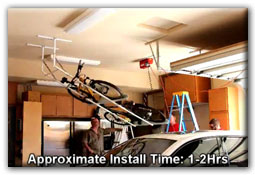 overhead storage racks bike lift installation video