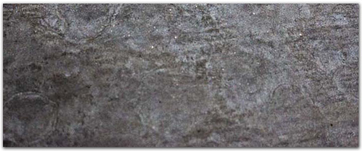 Metallic silver garage floor coating - metal pigments